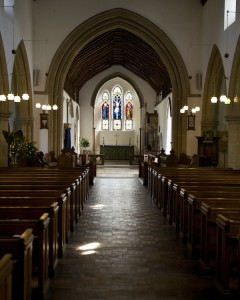 A photo of the Chancel from the rear of the Nave