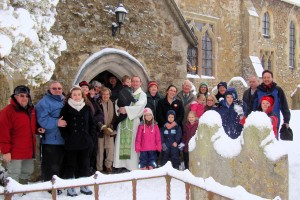 Family Service in the Snow February 2012