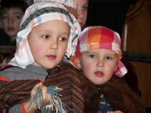 A photo of children in the Christmas nativity
