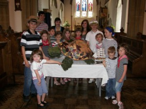 A photo of the Sunday School at St Mary's, West Malling